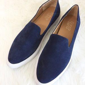 Franco Sarto navy suede loafers size 10
